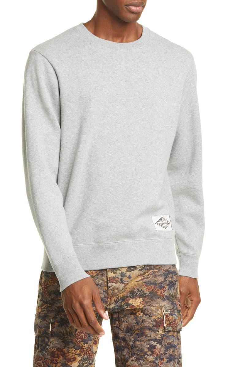 OVADIA & SONS Dune Combination Crewneck Sweatshirt, Main, color, HEATHER/ PURPLE