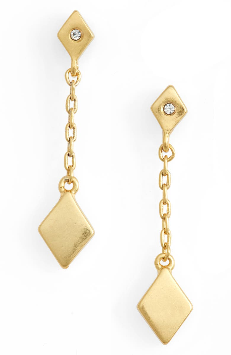 MADEWELL Diamond Shaped Drop Earrings, Main, color, 710