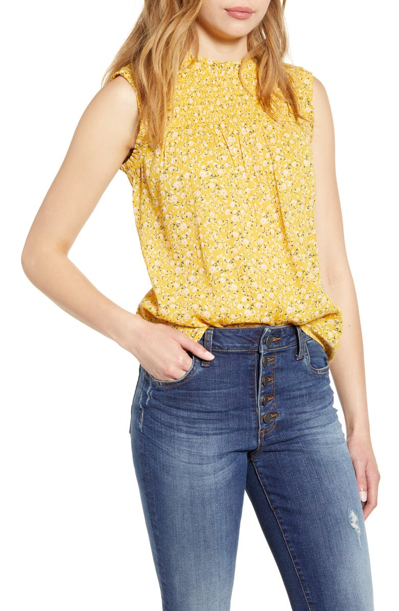 Printed Sleeveless Top by Caslon®