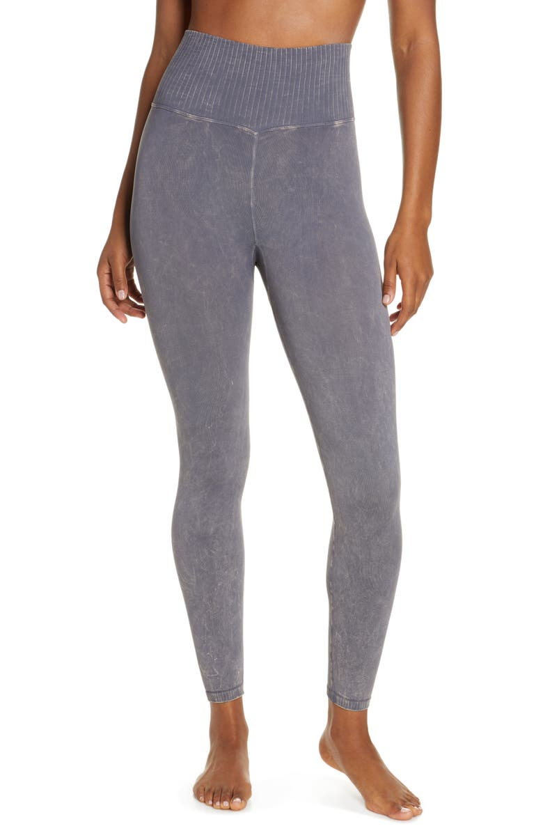 FREE PEOPLE FP MOVEMENT Good Karma Leggings, Main, color, GRAPHITE