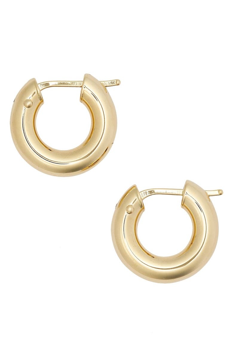 ROBERTO COIN Hoop Earrings, Main, color, YELLOW GOLD