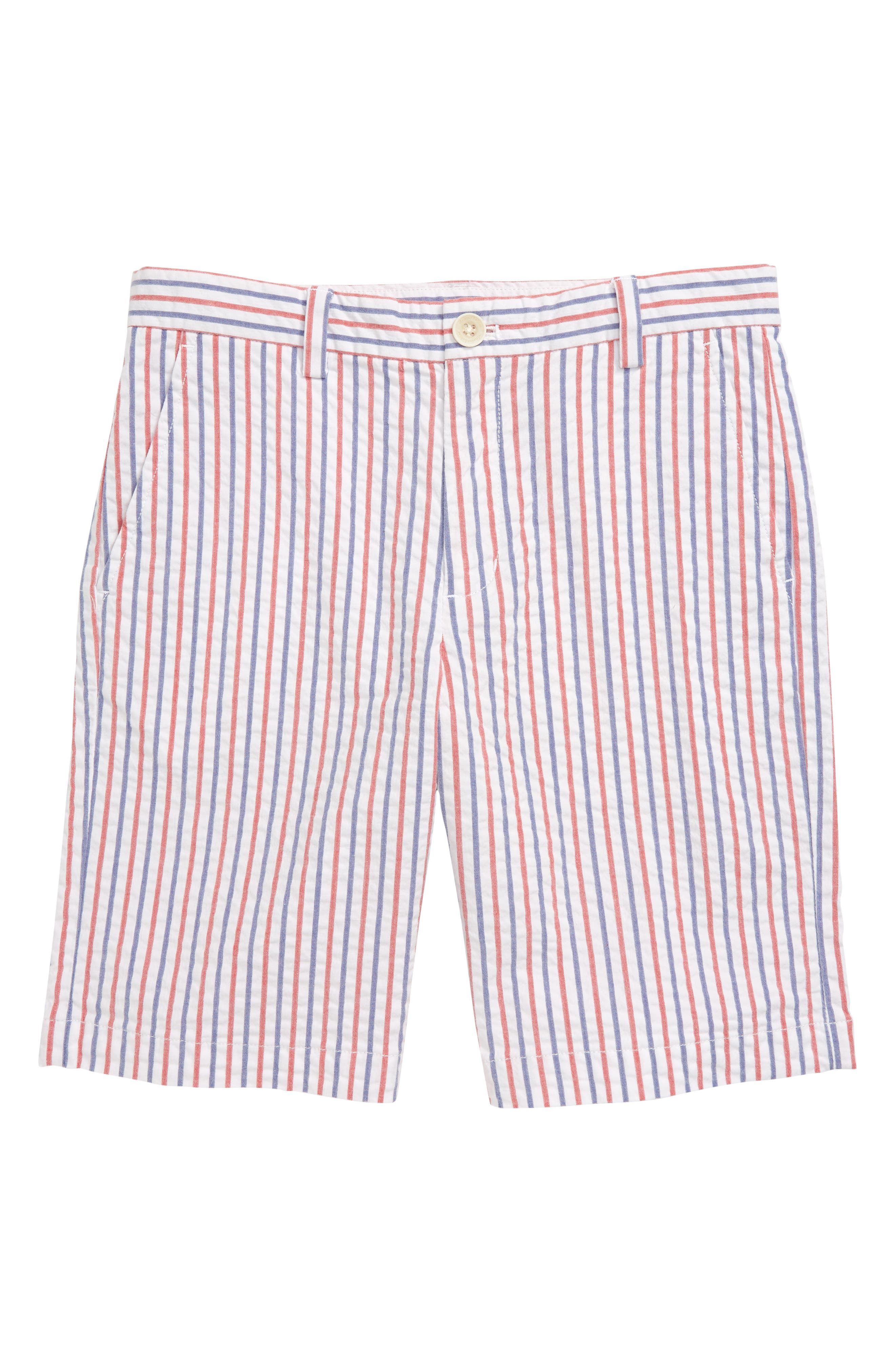 Boys Vineyard Vines Firework Stripe Seersucker Breaker Shorts