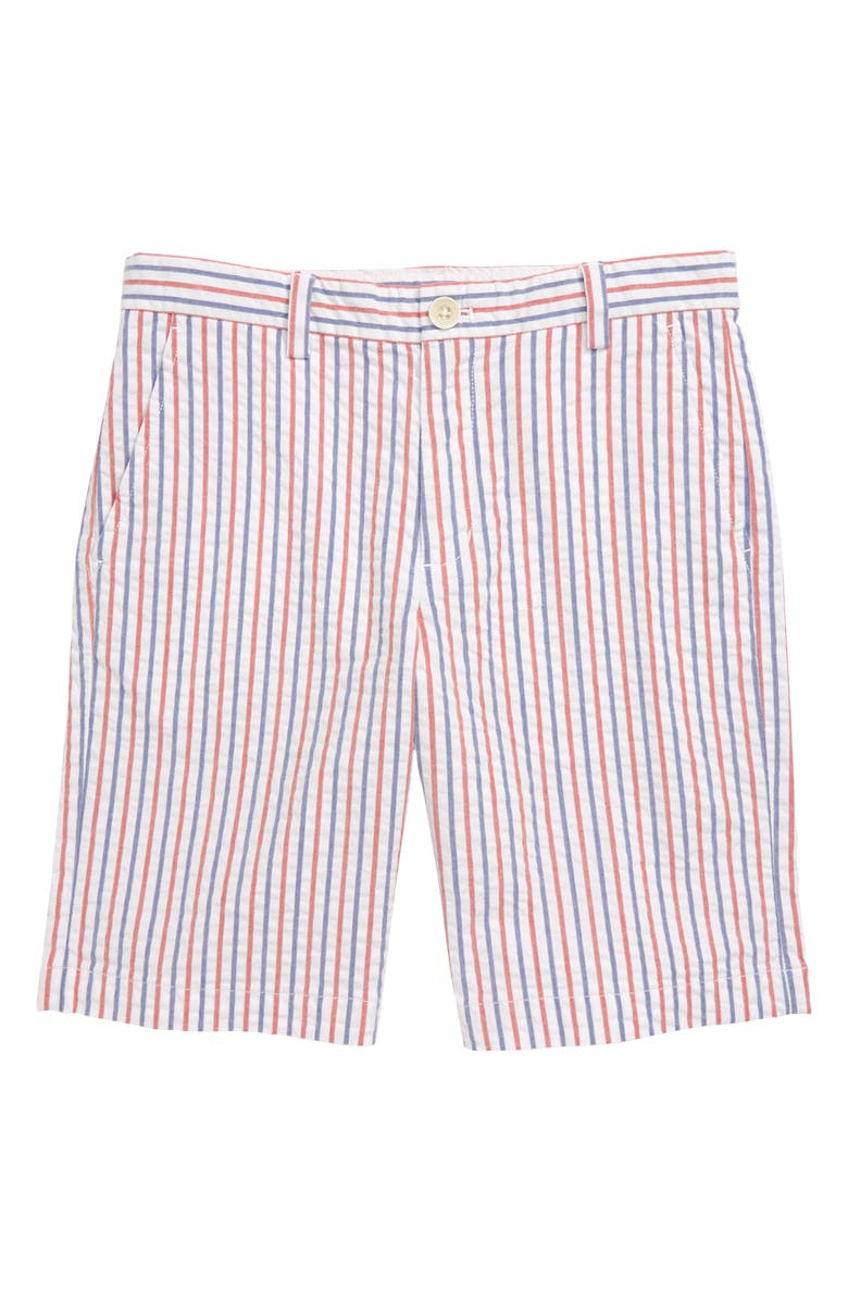VINEYARD VINES Firework Stripe Seersucker Breaker Shorts, Main, color, 634