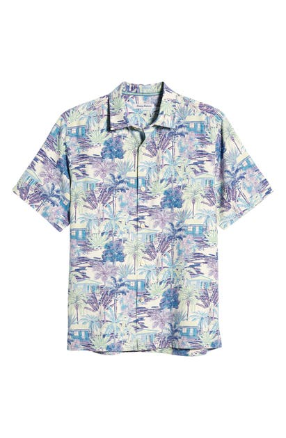 Tommy Bahama BUNGALOW NOCHE SHORT SLEEVE SILK BUTTON-UP SHIRT