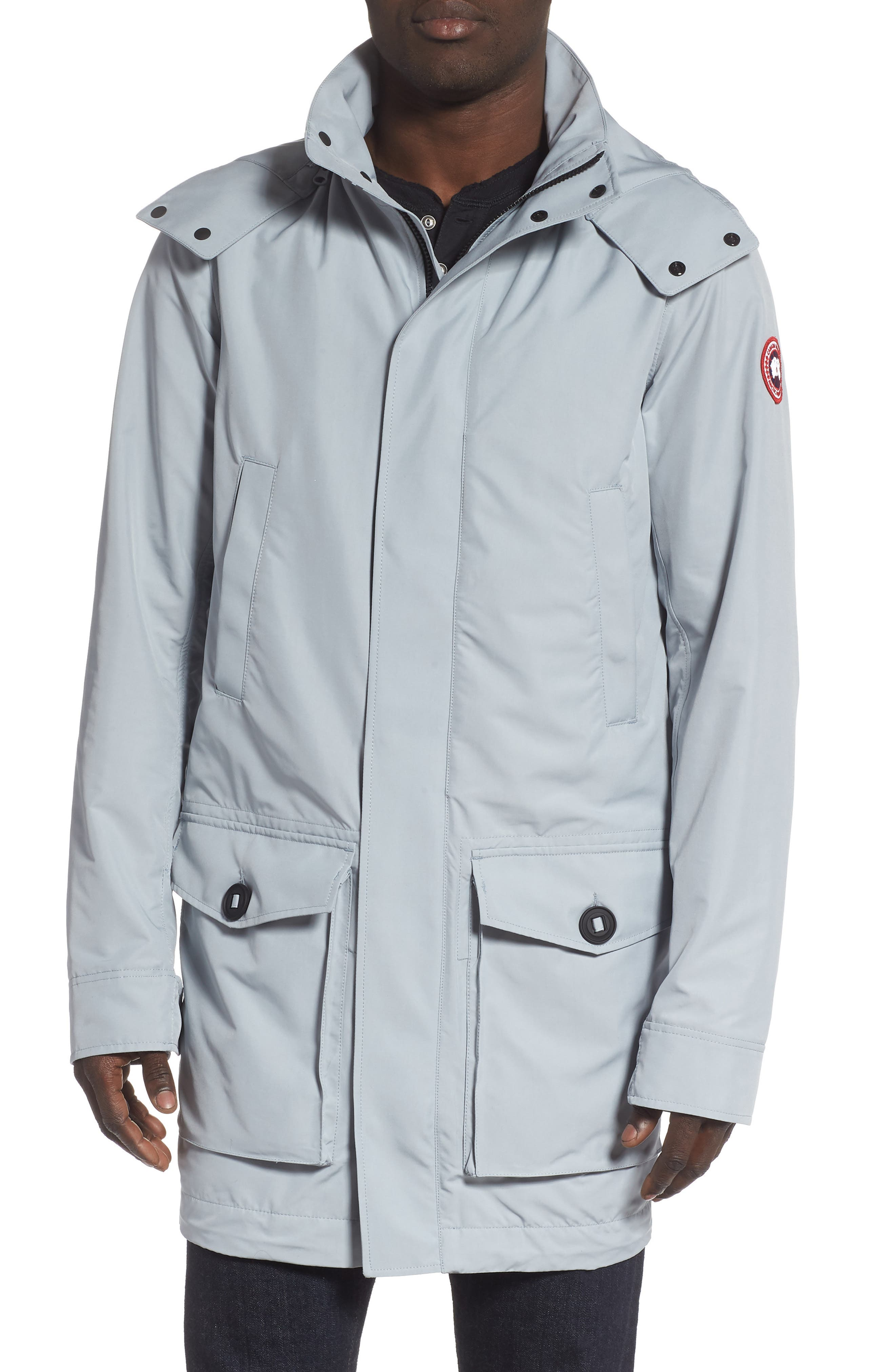 Canada Goose Crew Trench Jacket With Removable Hood, Grey