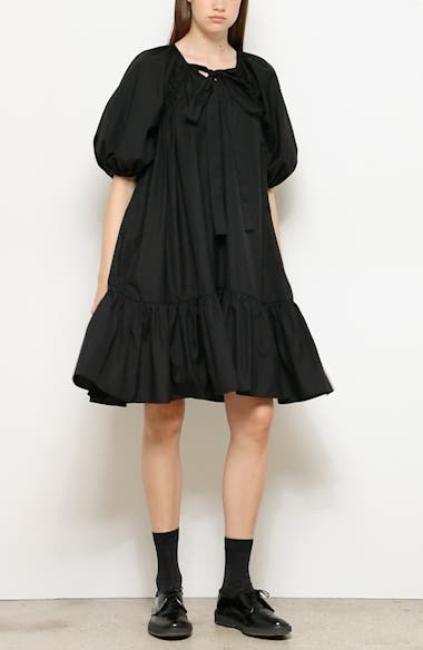 Crystal Ruffle Hem Cotton Dress, video thumbnail