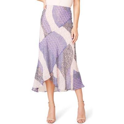 Bb Dakota Patch Me In Bias Cut Midi Skirt, Purple