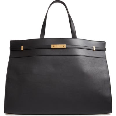 Saint Laurent Large Manhattan Leather Satchel -