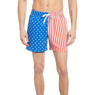 Chubbies American Man Print Swim Trunks, Blue