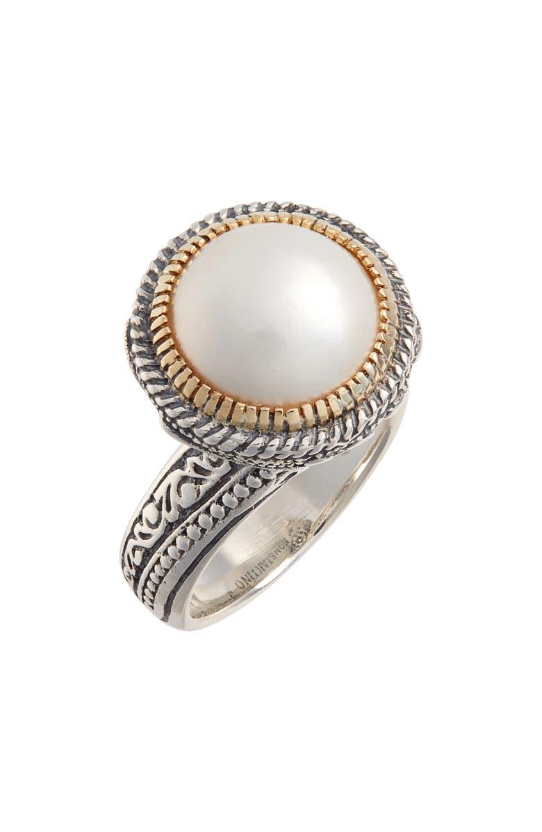 KONSTANTINO Thalia Pearl Ring, Main, color, SILVER/ PEARL
