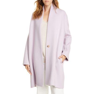Vince Longline Wool Blend Coat, Purple