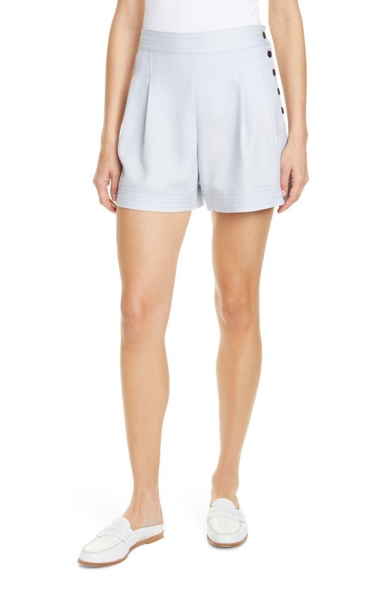 52e4de43f2 Lettee Side Button Shorts, Main, color, LIGHT BLUE