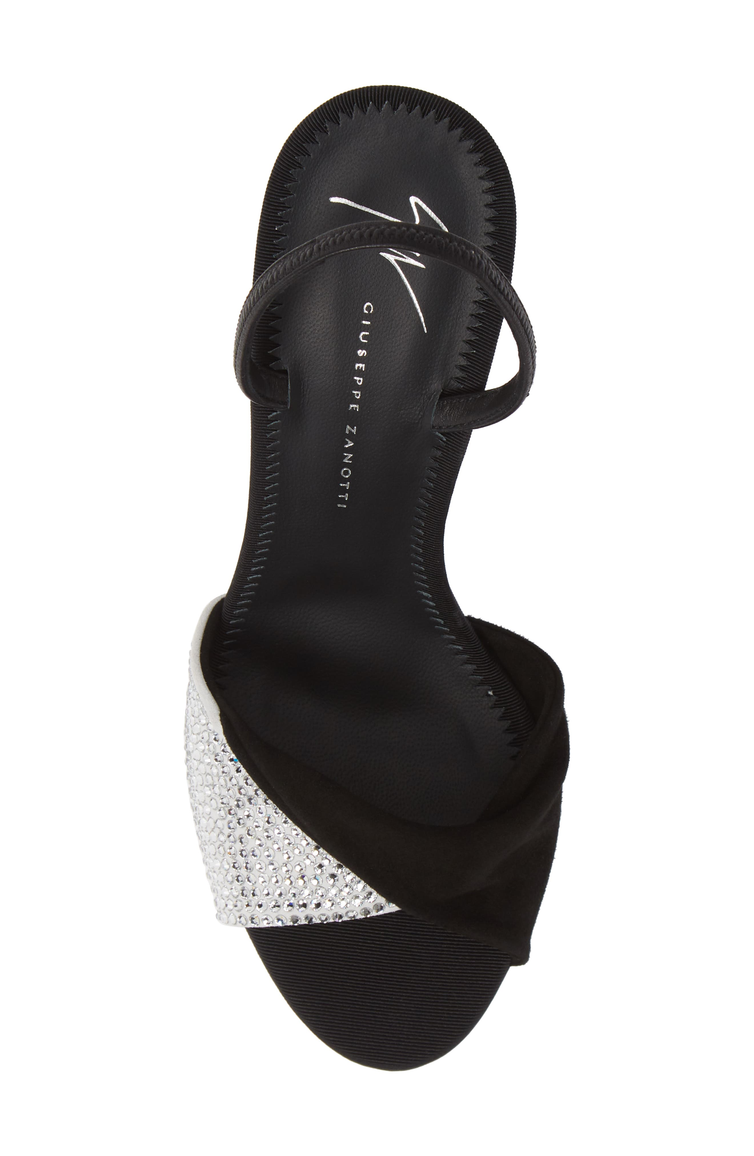 ,                             Swarovski Crystal Embellished Slingback Sandal,                             Alternate thumbnail 5, color,                             BLACK