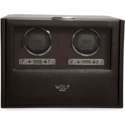 Wolf Blake Double Watch Winder Box - Brown