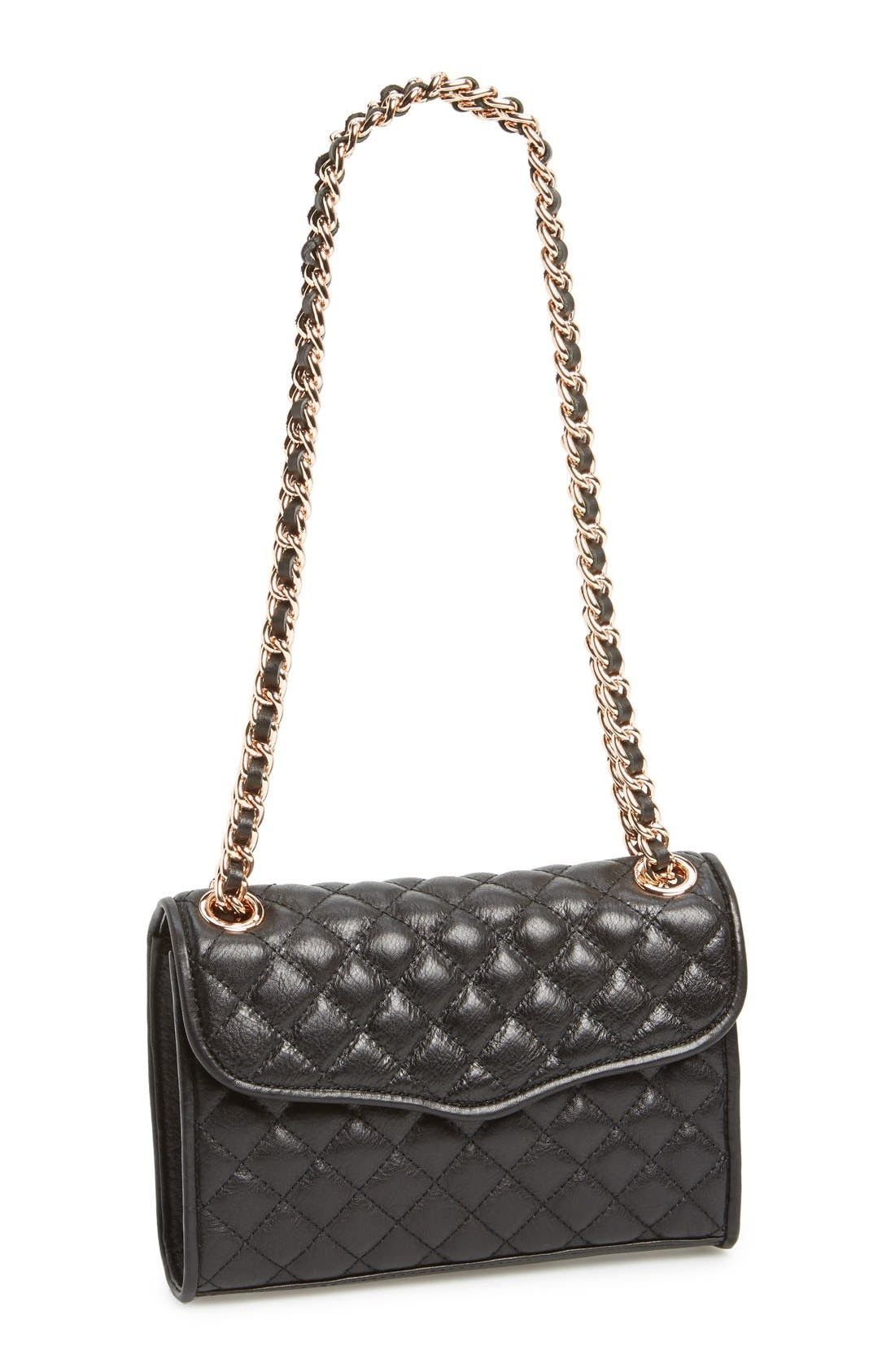 'Quilted Mini Affair' Convertible Crossbody Bag, Main, color, 001