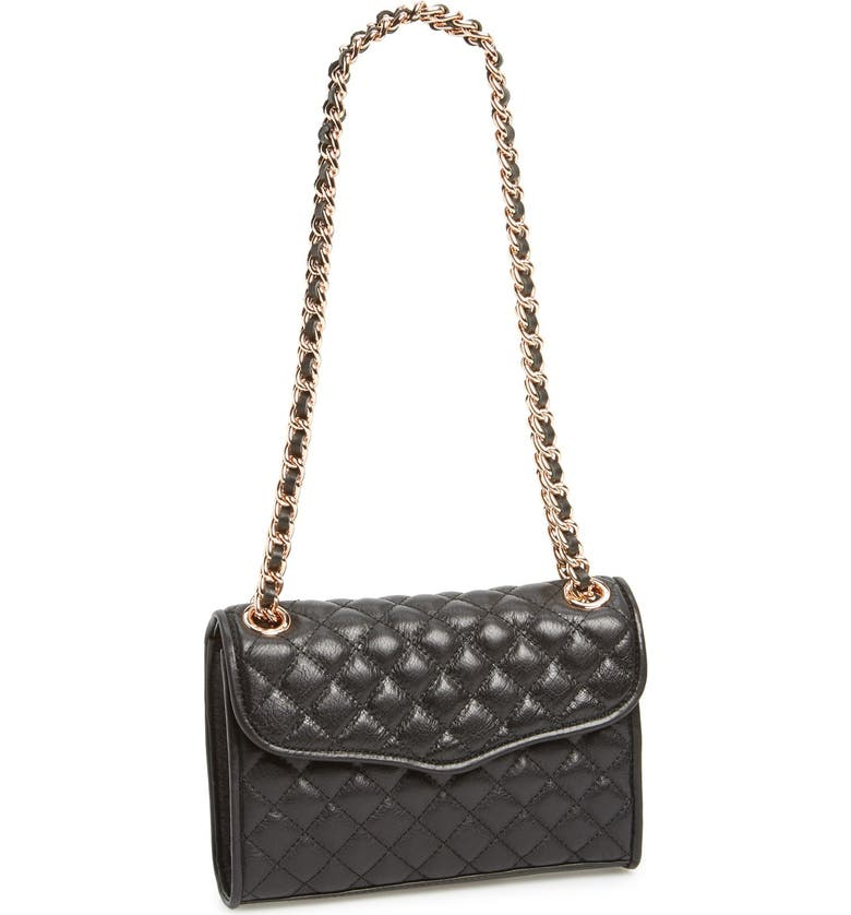 REBECCA MINKOFF 'Quilted Mini Affair' Convertible Crossbody Bag, Main, color, 001