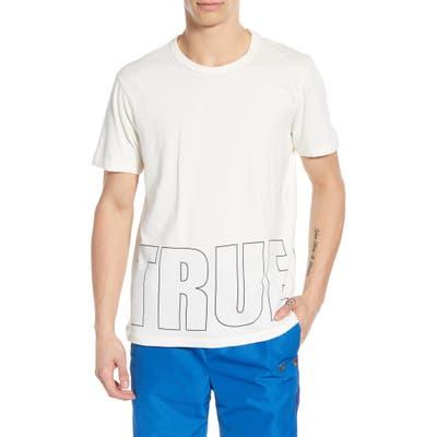 True Religion Brand Jeans Brick Logo Graphic T-Shirt, White