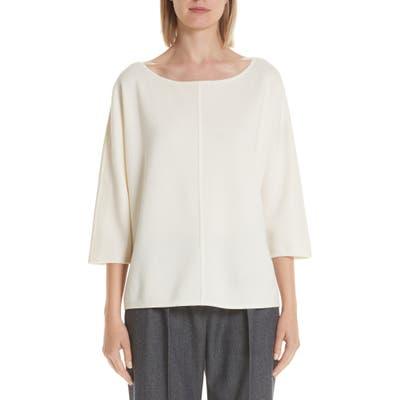 Max Mara Faggio Wool Sweater, White