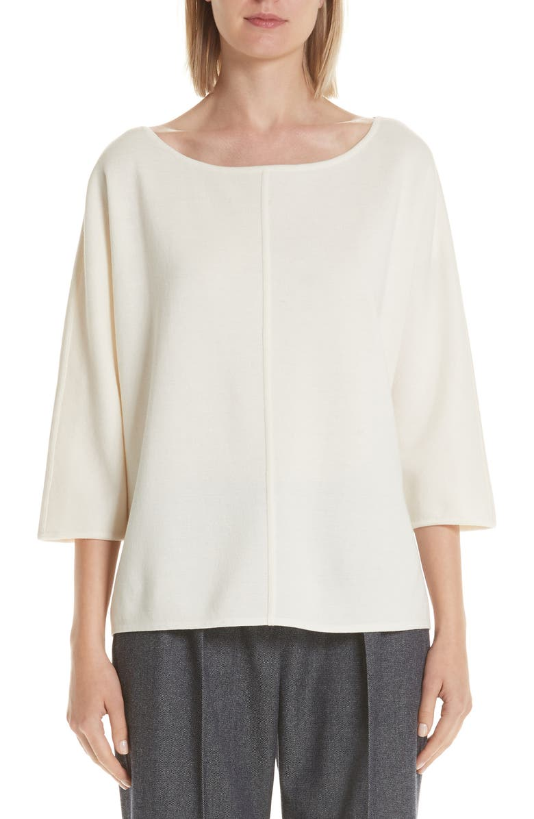MAX MARA Faggio Wool Sweater, Main, color, SILK