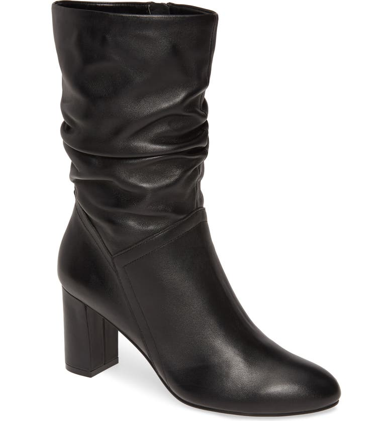 DAVID TATE Slouch Boot, Main, color, BLACK LEATHER