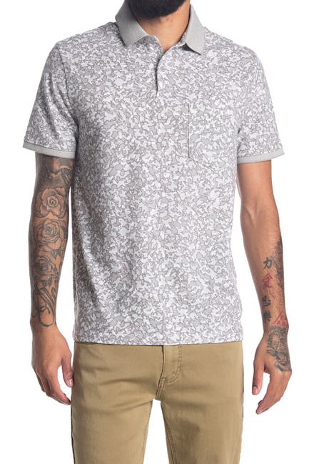 Image of DKNY Pique Camo Print Short Sleeve Tee
