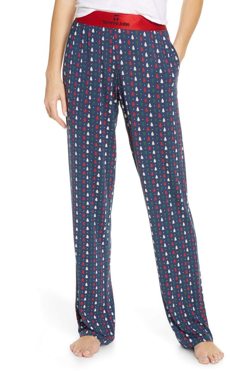 TOMMY JOHN Second Skin Print Lounge Pants, Main, color, 408