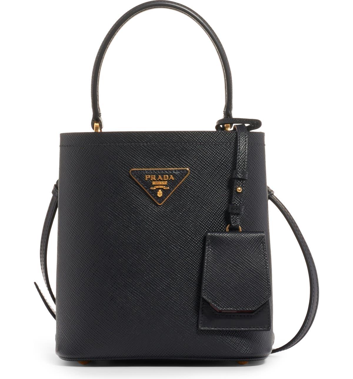 597842e7f042 Prada Small Saffiano Leather Bucket Bag | Nordstrom