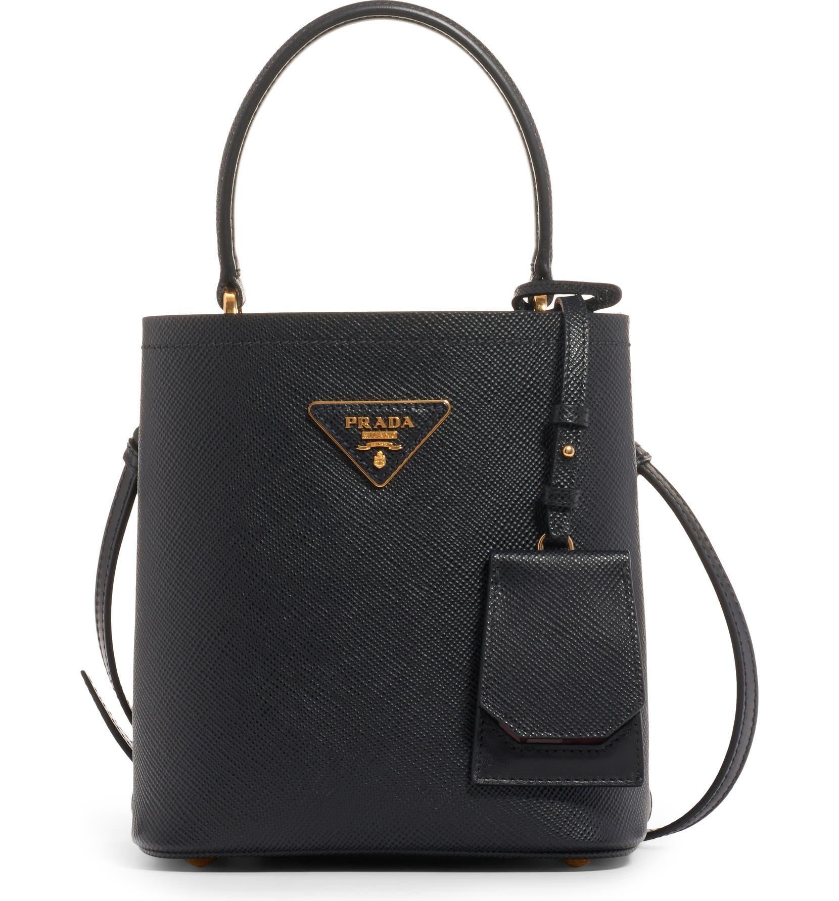 cf333fa91a15 Prada Small Saffiano Leather Bucket Bag | Nordstrom