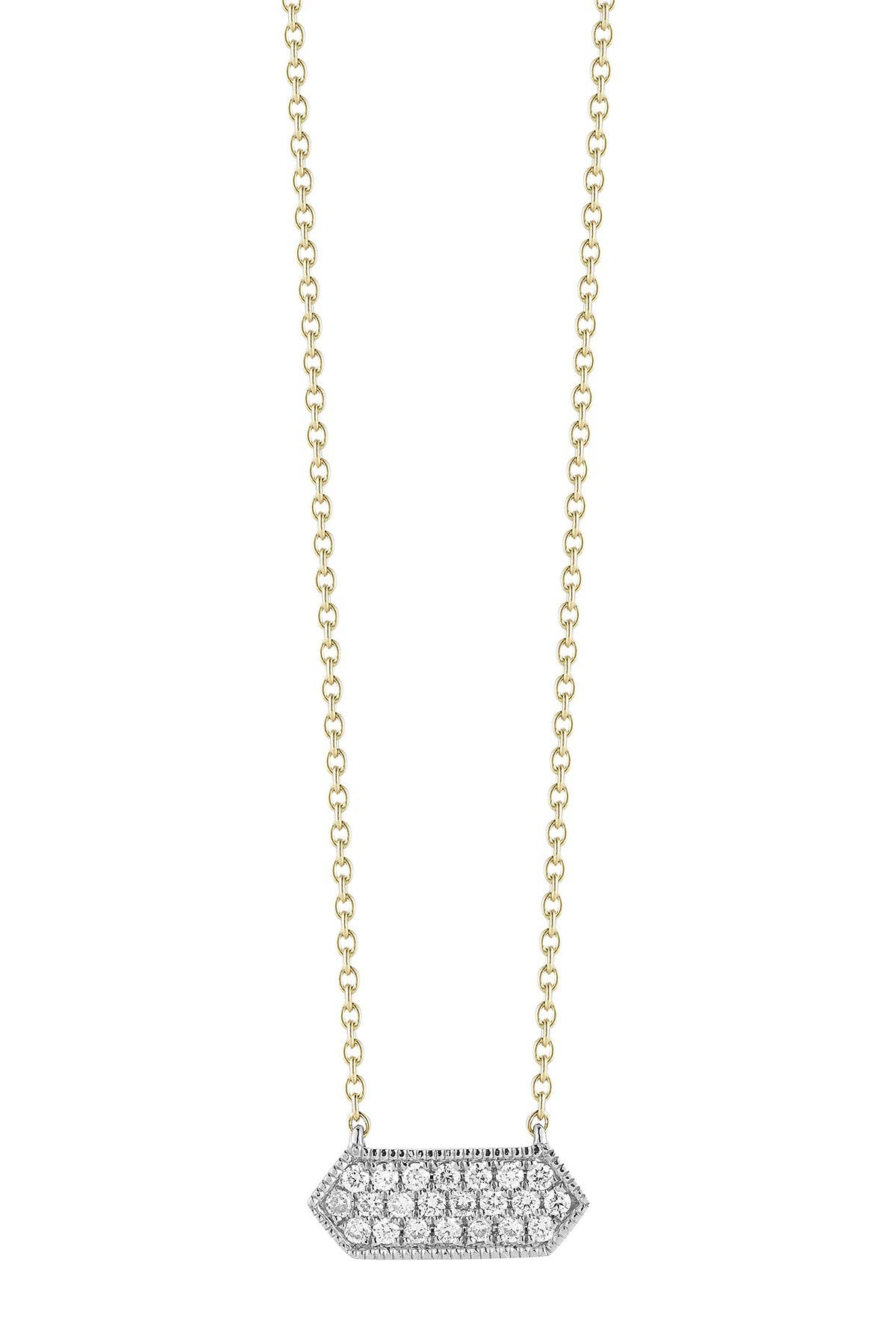 Image of DANA REBECCA 14K Yellow Gold Diamond Accented Cynthia Rose Necklace - 0.13 ctw