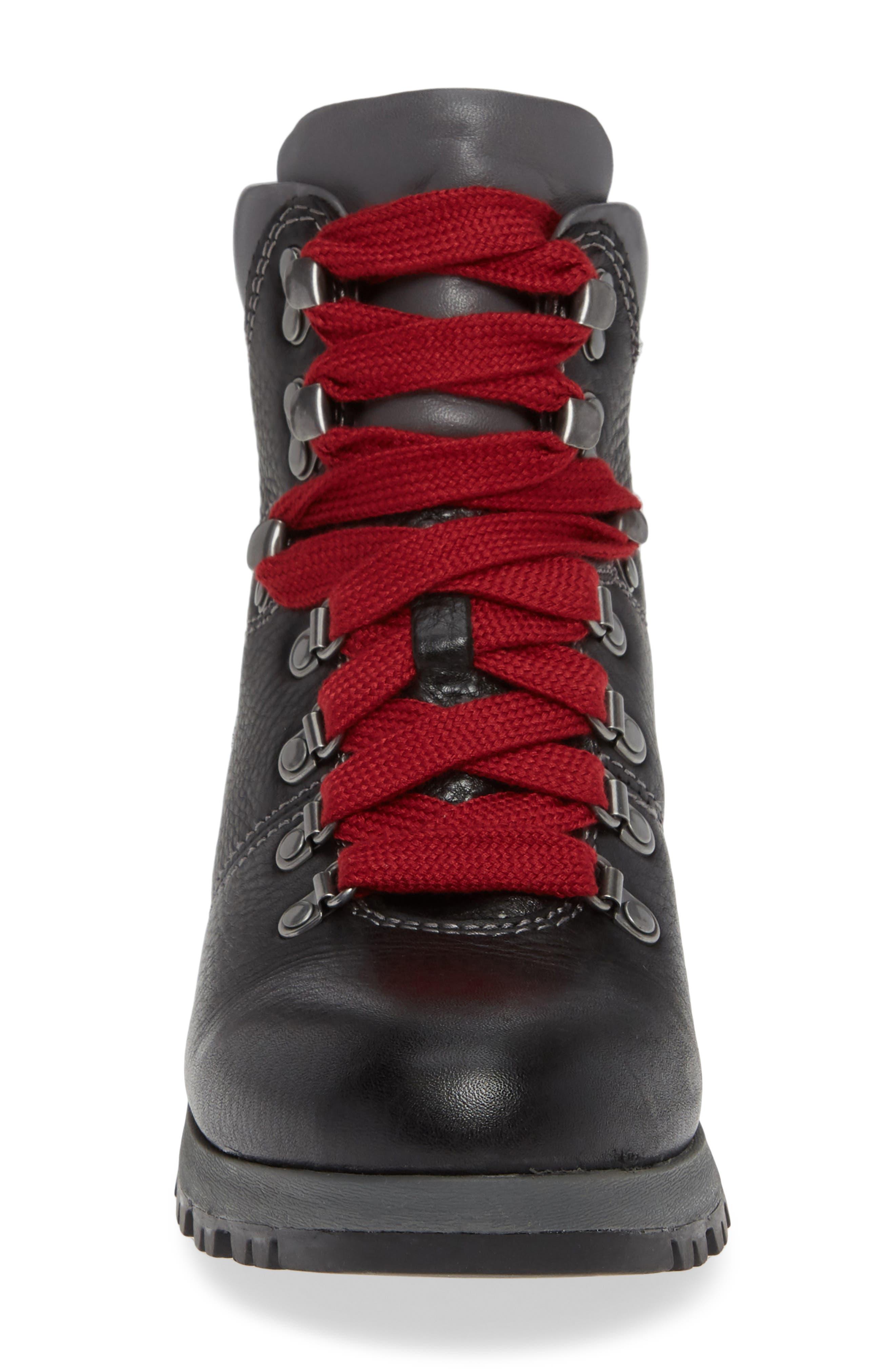 ,                             Dalton Lace-Up Waterproof Boot,                             Alternate thumbnail 4, color,                             BLACK LEATHER