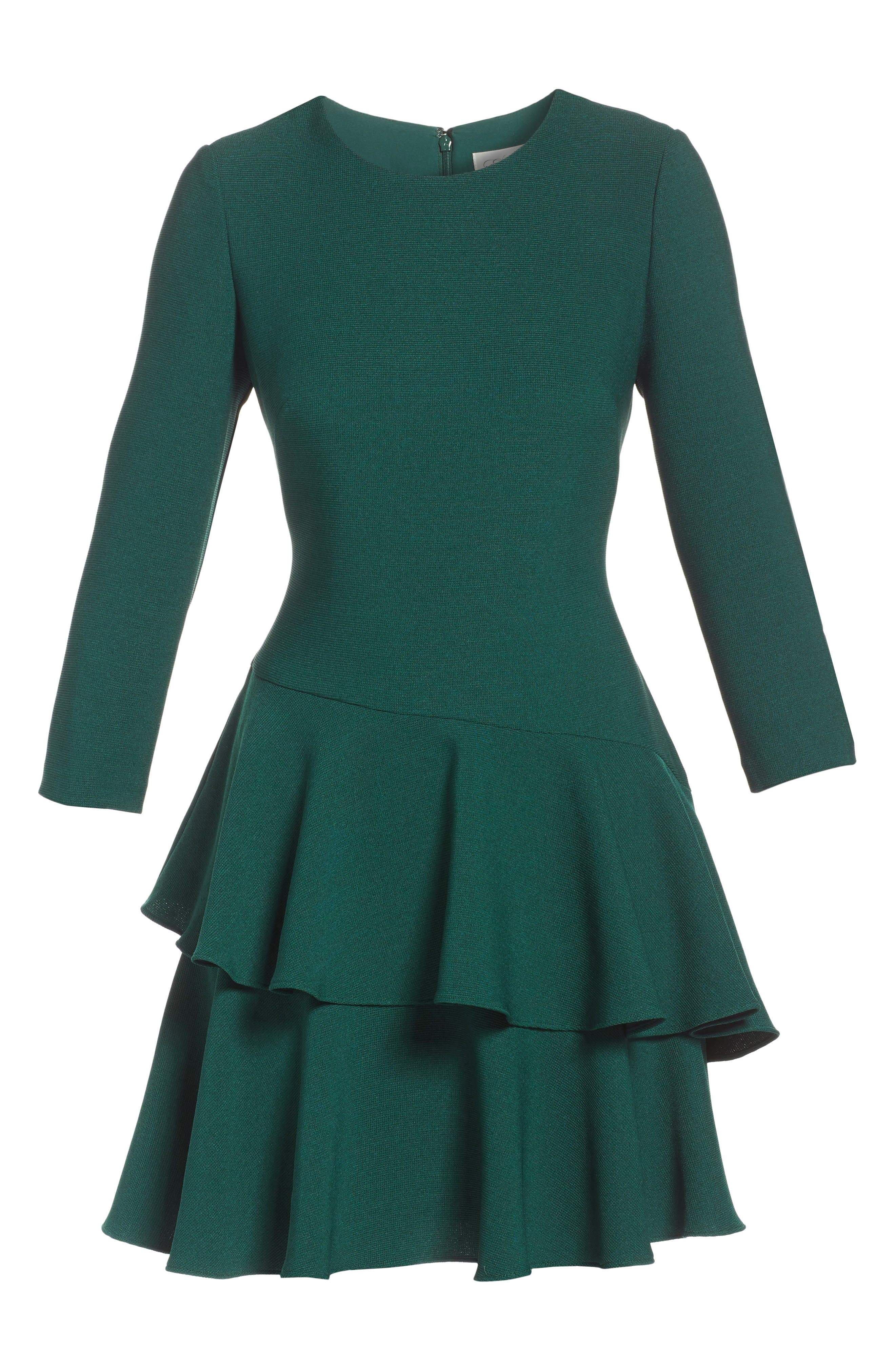 ,                             Tiered Ruffle Knit Dress,                             Alternate thumbnail 14, color,                             302