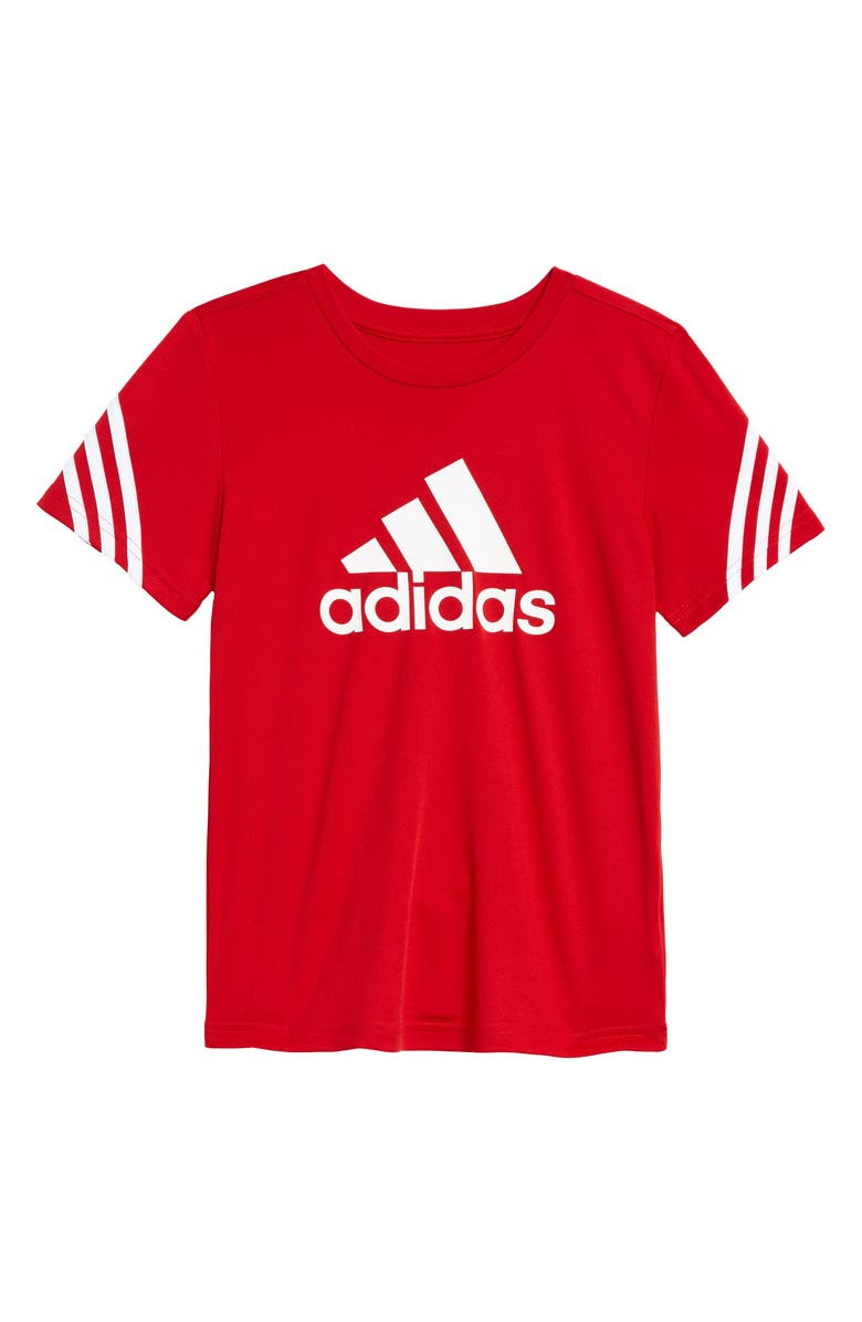 ADIDAS Trefoil Aeroready T-Shirt, Main, color, SCARLET RED