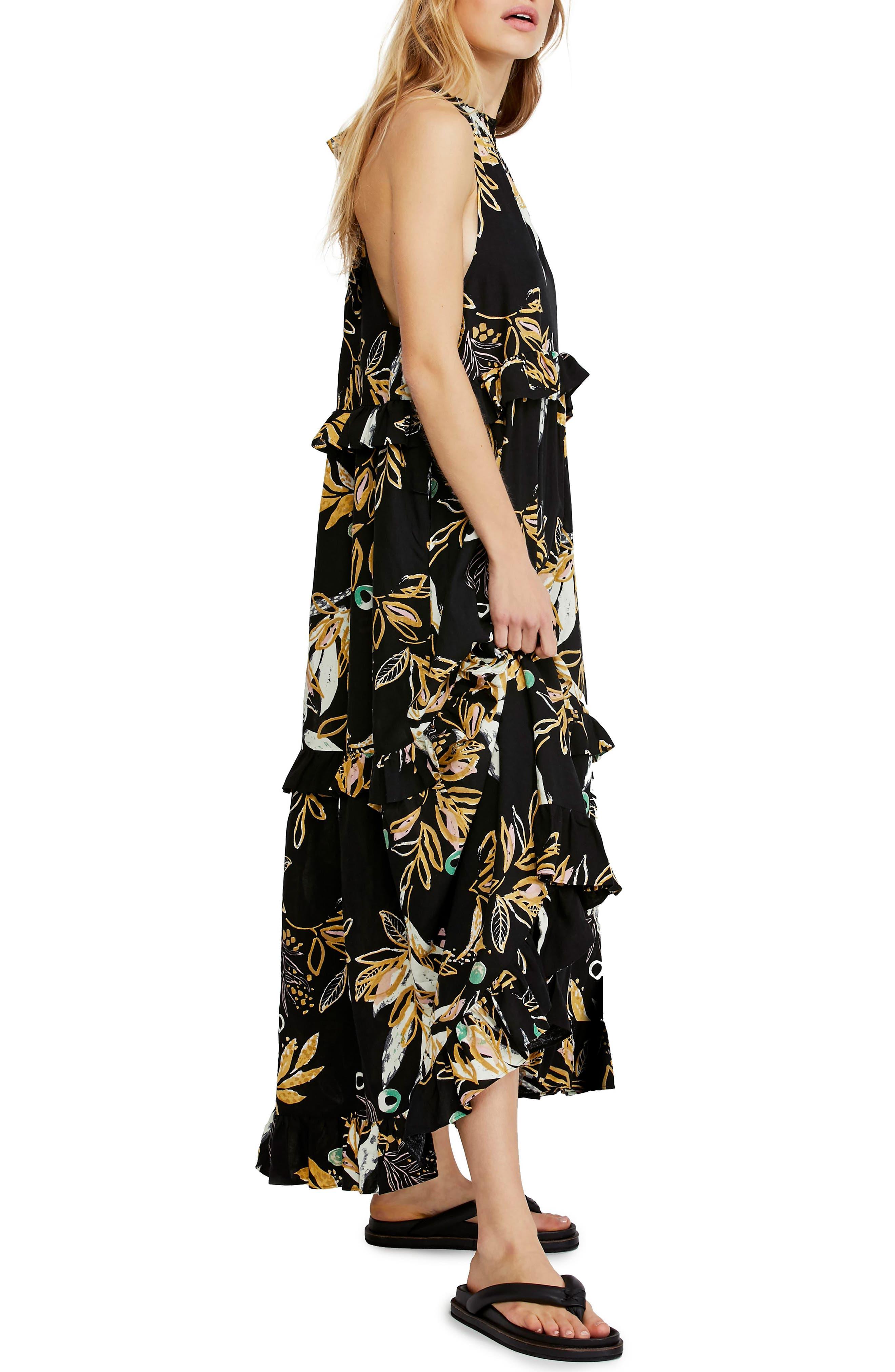 ,                             Anita High/Low Dress,                             Alternate thumbnail 3, color,                             BLACK