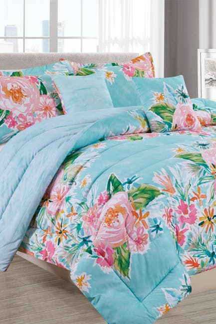 Image of Melange Home Boundless Floral Comforter 4-Piece Set - Twin/XL Twin
