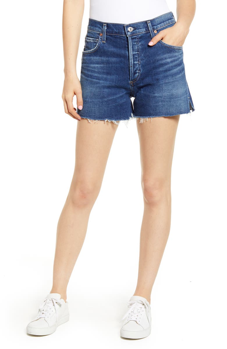 CITIZENS OF HUMANITY Marlow Easy High Waist Denim Shorts, Main, color, 401