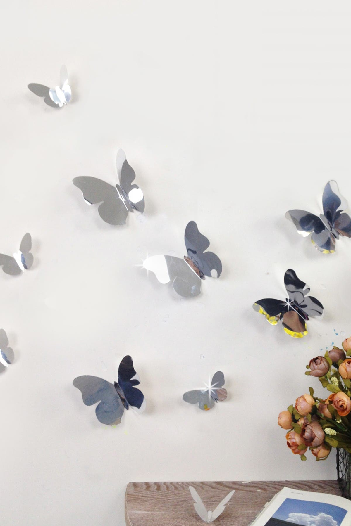 Image of WalPlus Mirrored 3D Butterfly Decal