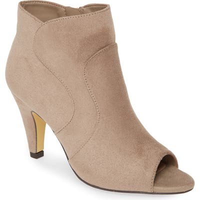 Bella Vita Noah Ii Open Toe Bootie, Grey