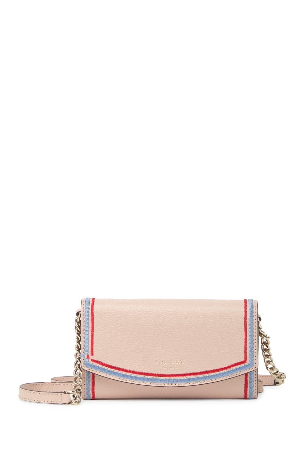 Image of kate spade new york leather eva wallet on a chain