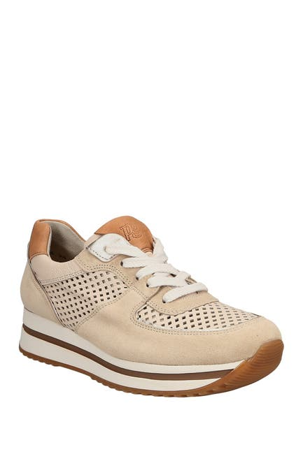 Image of Paul Green R4948 Leather & Suede Perforated Sneaker