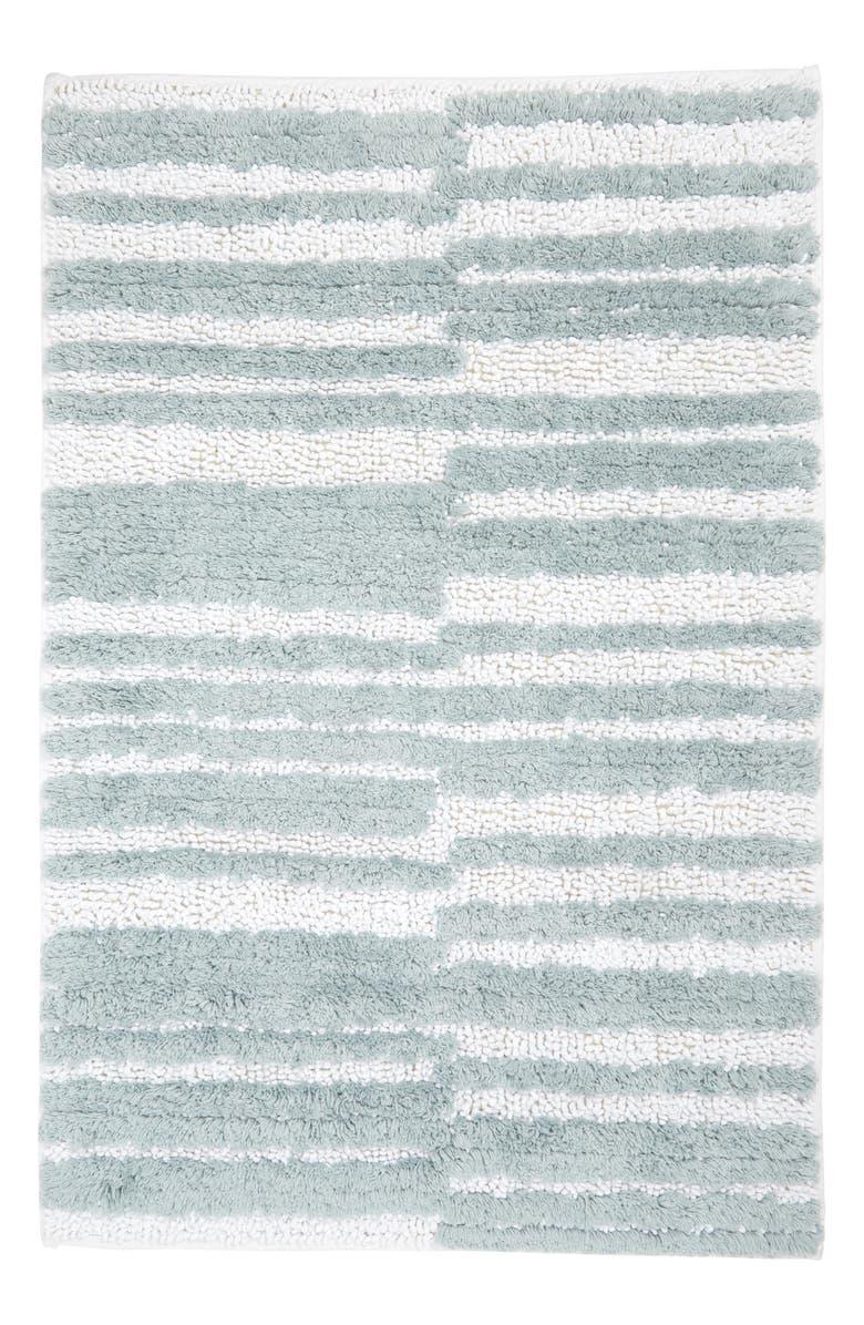 NORDSTROM Uneven Stripe Cotton Bath Rug, Main, color, 100