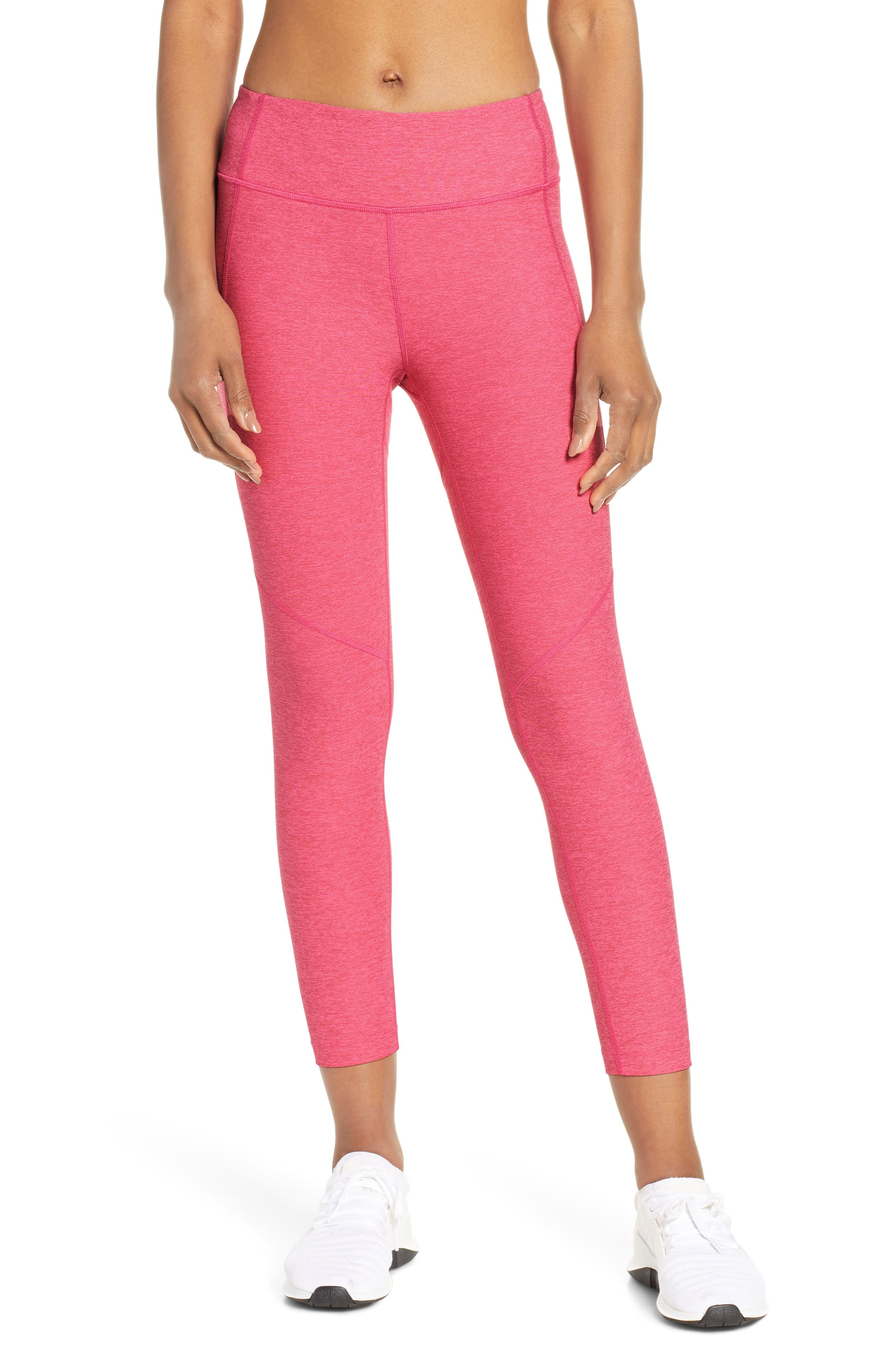 Outdoor Voices Warm-Up Crop Leggings, Pink