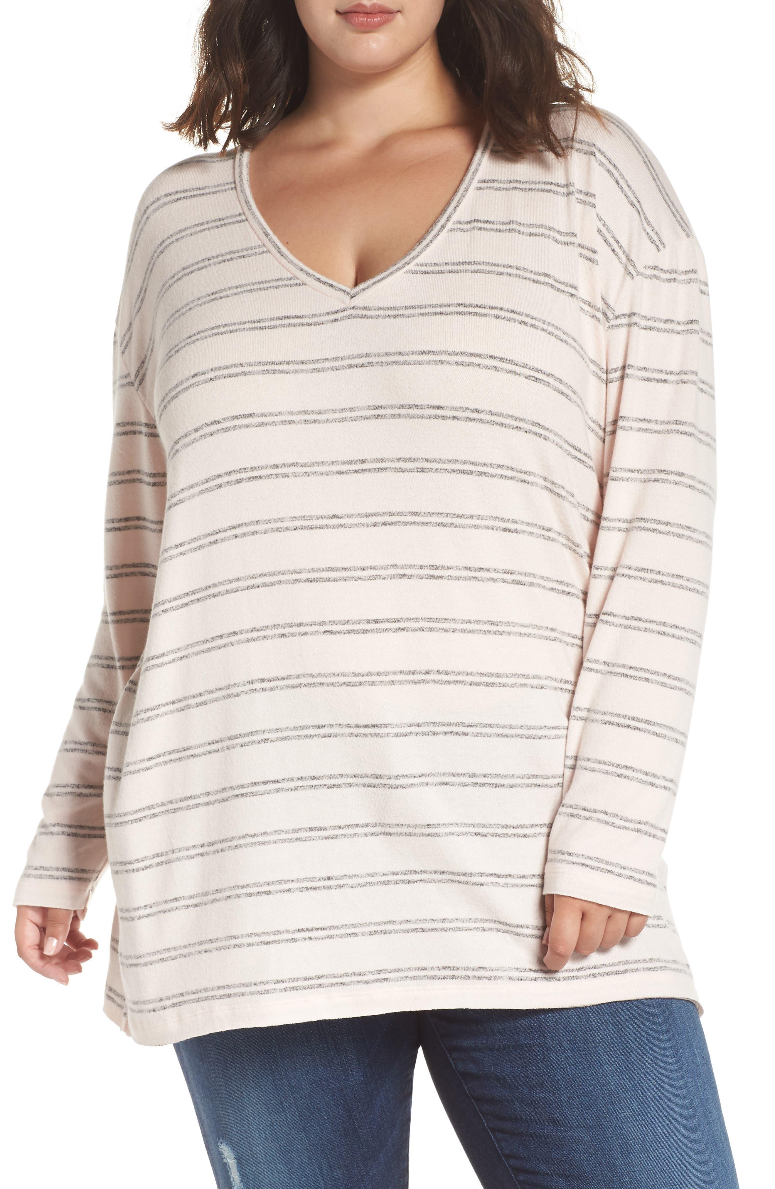 ,                             Cozy V-Neck Sweater,                             Alternate thumbnail 20, color,                             660