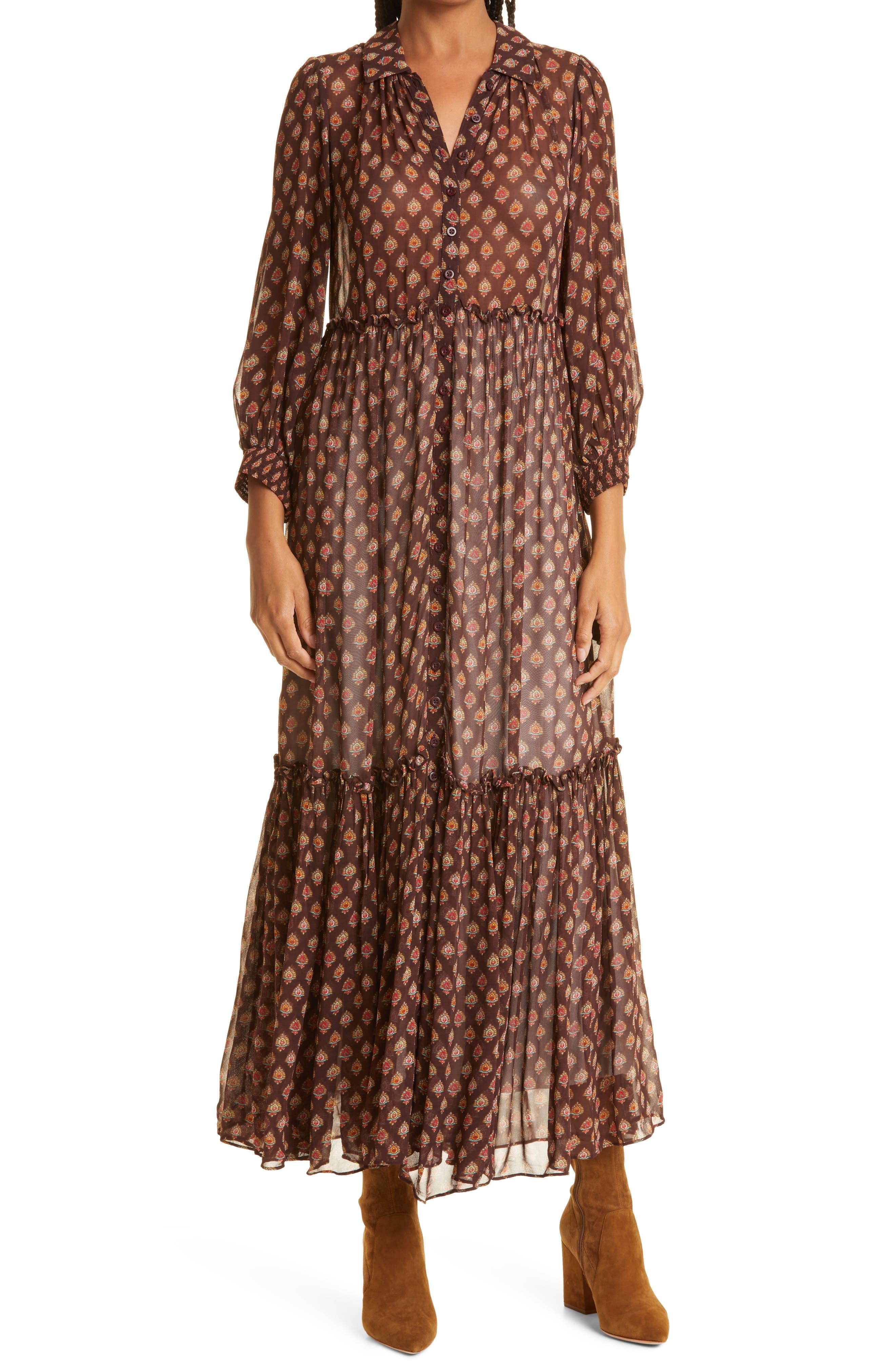 Georgette Midi Shirtdress