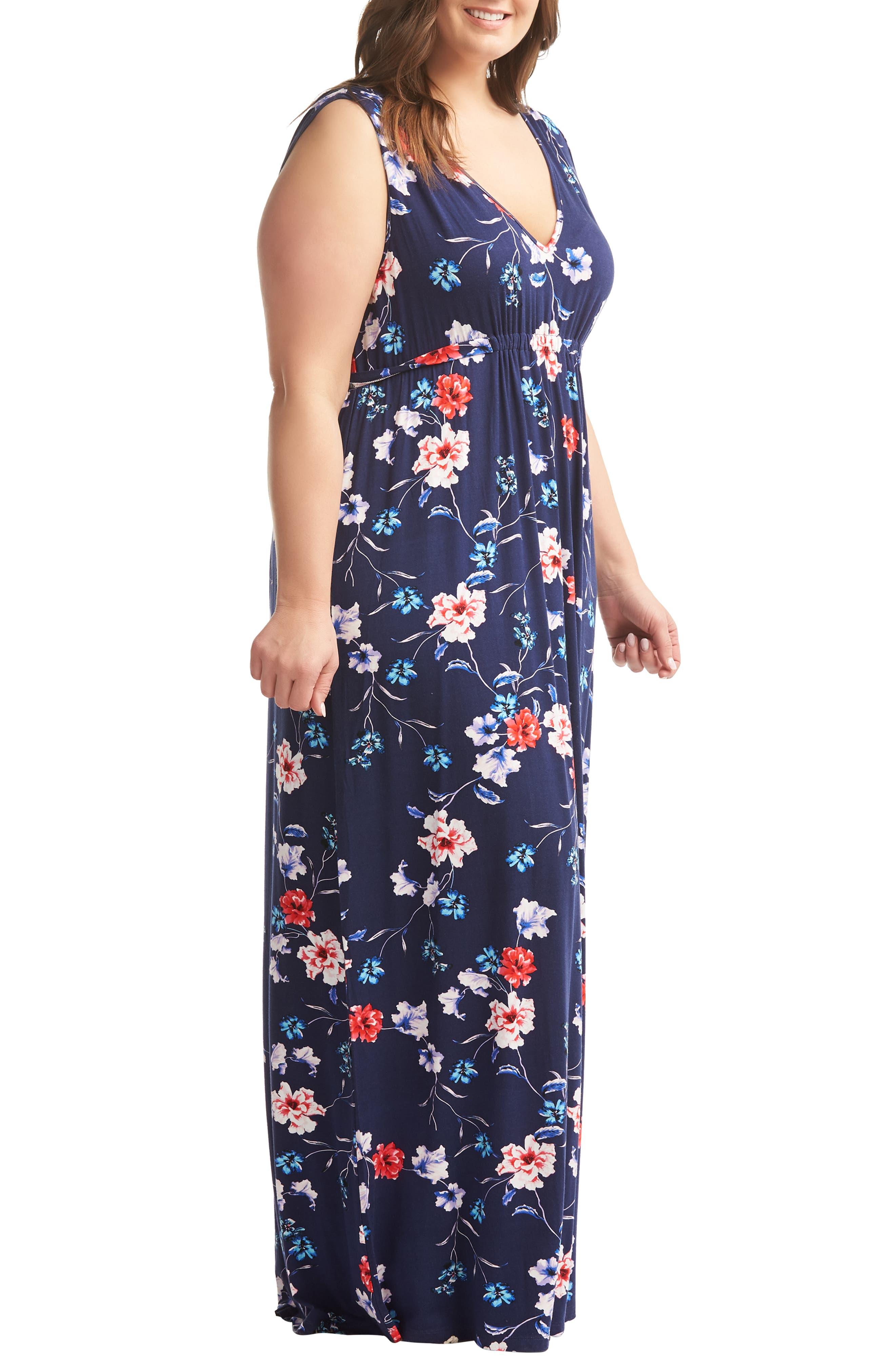,                             Grecia Maxi Dress,                             Alternate thumbnail 3, color,                             WATERCOLOR FLORAL