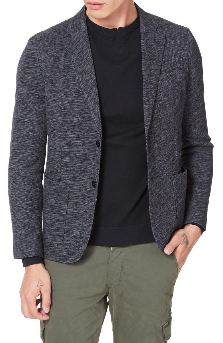 GOOD MAN BRAND Slim Fit Vintage Twill Knit Sport Coat, Main, color, BLACK / GREY HEATHER