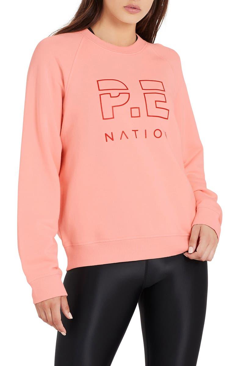 P.E NATION Shuffle Logo Sweatshirt, Main, color, PINP