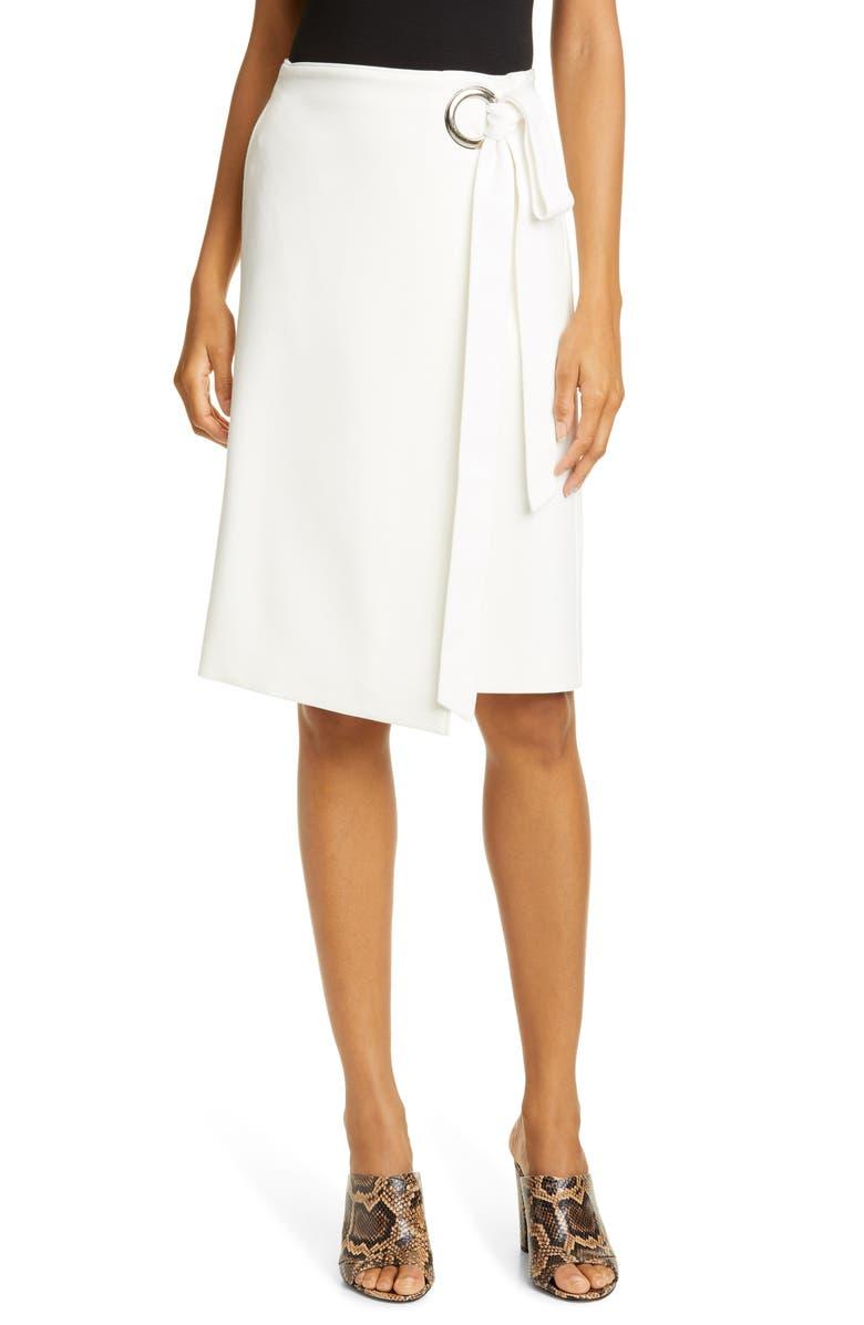 TIBI Wrap Front Skirt, Main, color, 900