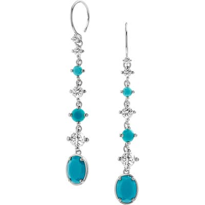 Nadri Issa Linear Stone Drop Earrings
