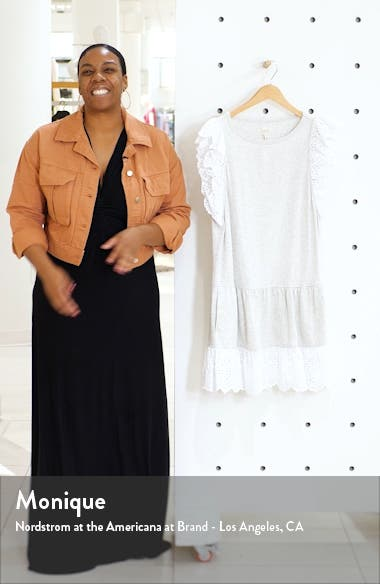 Agatha Eyelet Detail Cotton Jersey Dress, sales video thumbnail