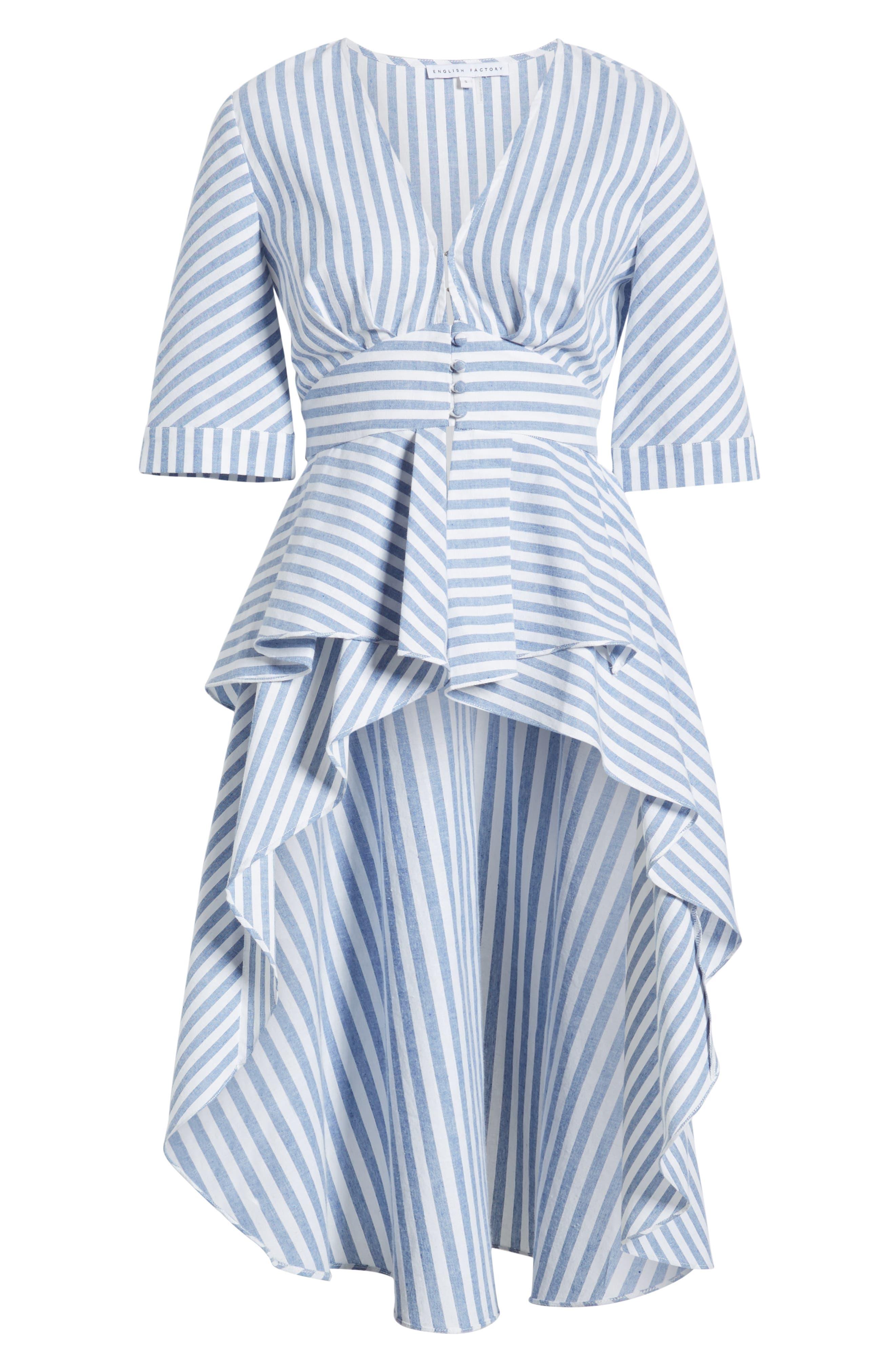 ,                             Stripe High/Low Top,                             Alternate thumbnail 7, color,                             BLUE